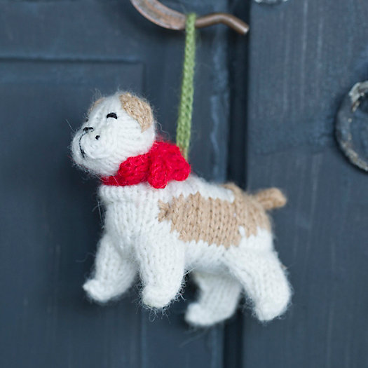 Knitted Bulldog Ornament