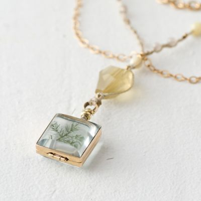 Citrine Locket Necklace