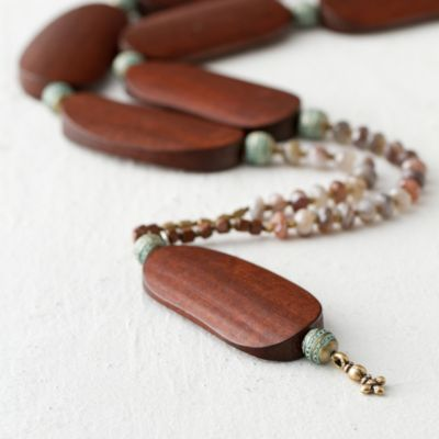 Wood & Agate Necklace