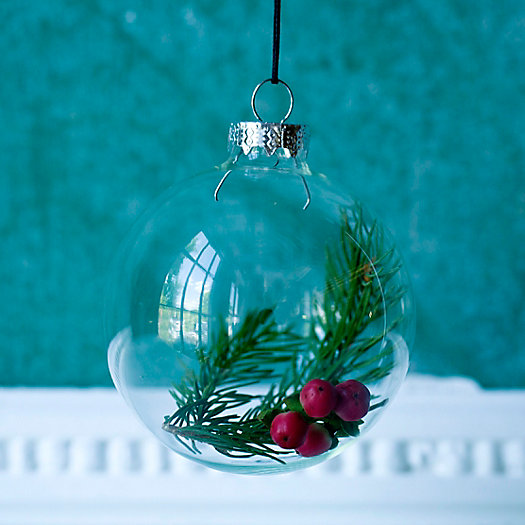 Fillable Glass Ornament
