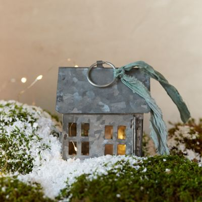 Metal Cottage Ornament