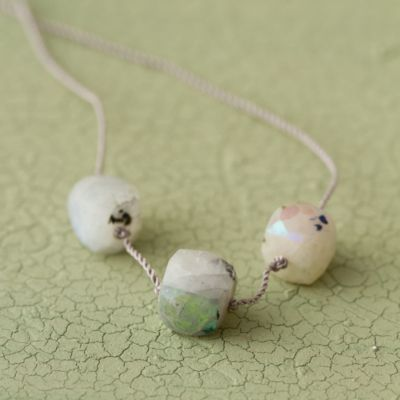 Moonstone Trio Necklace