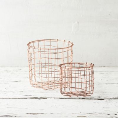 Copper Cylinder Basket