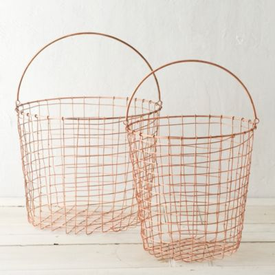 Copper Storage Basket, Tall