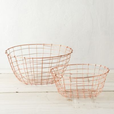 Copper Storage Basket, Low