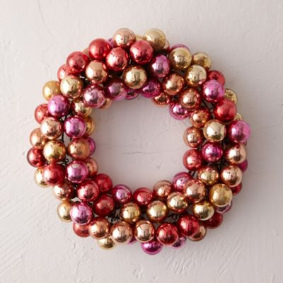 Mercury Glass Globe Wreath