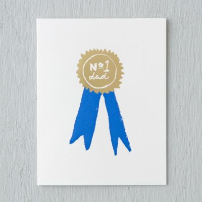 Blue Ribbon Dad Card