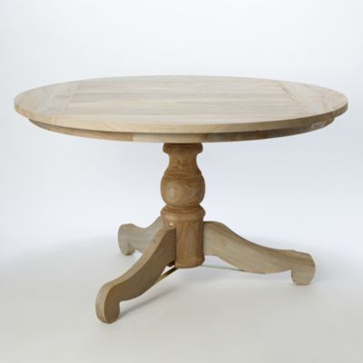 Preserved Teak Round Pedestal Table