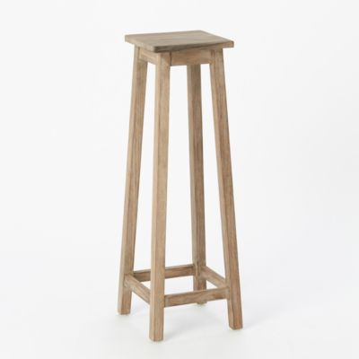 Preserved Teak Plant Stand, Tall