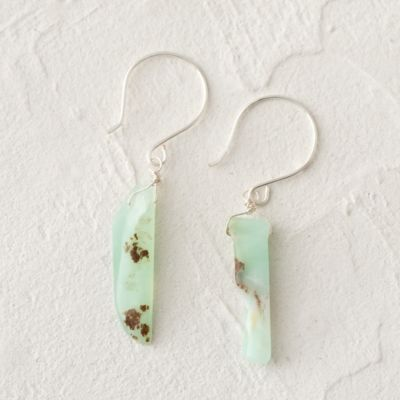 Chrysoprase Slice Earrings