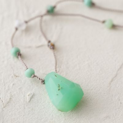 Chrysoprase Amulet Necklace
