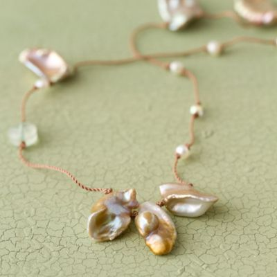 Pearl & Prenite Necklace