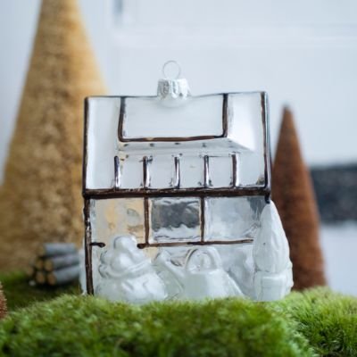 Snowy Greenhouse Ornament