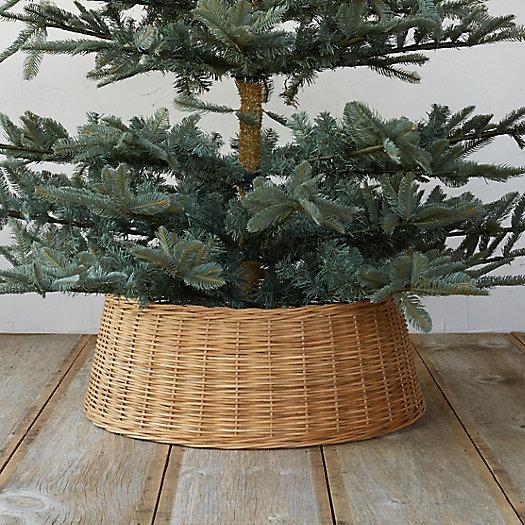 Wicker basket tree skirt