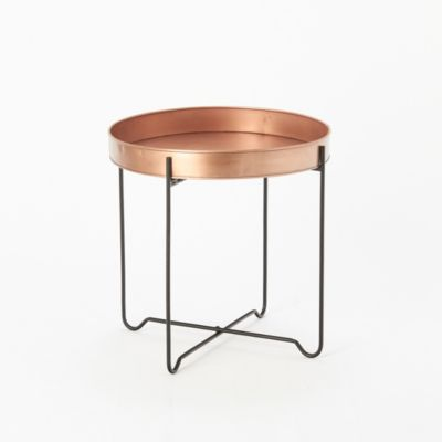 Copper Tray End Table