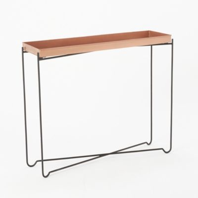 Copper Tray Console Table