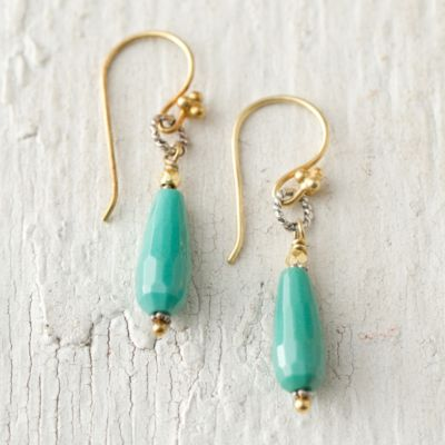 Moss Opal Drop Earrings