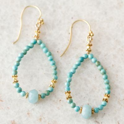 Turquoise Loop Earrings
