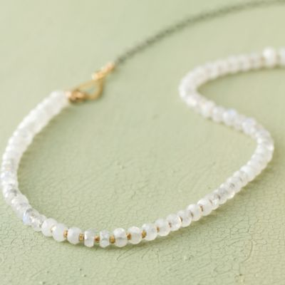 Moonstone Rondelle Necklace