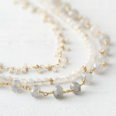 Moonstone Layers Necklace