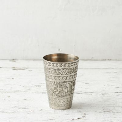 Etched Metal Vase