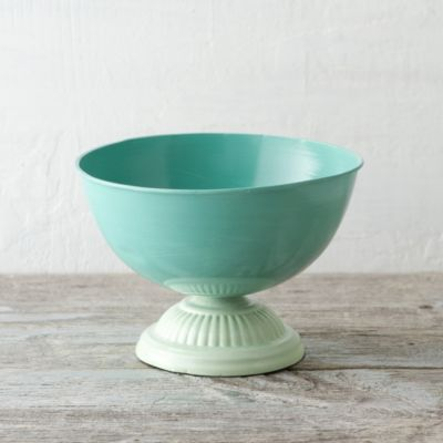 Footed Cerulean Bowl