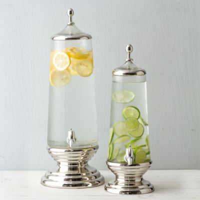 Rippled Glass Drink Dispenser, Tall