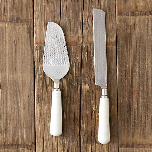 Marble Handle Serving Set