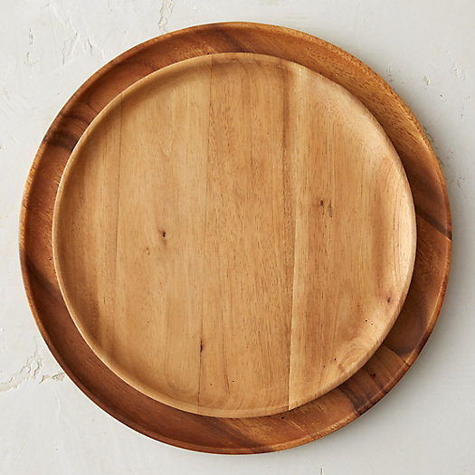 Carved Acacia Plate
