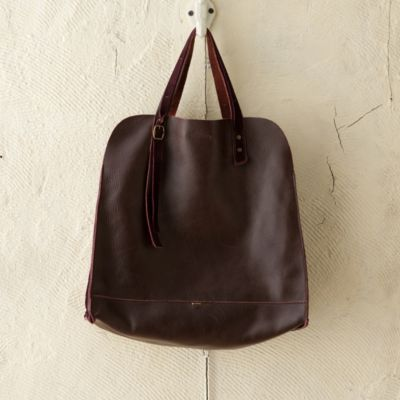 Raw Edge Leather Tote