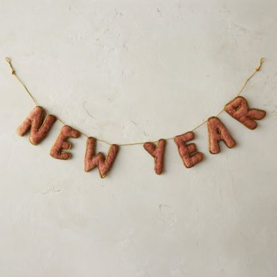 Velvet New Year Garland