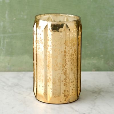Gilded Amberleaf Mercury Glass Candle, Medium