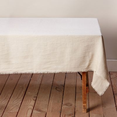 Cut Edge Washed Linen Tablecloth