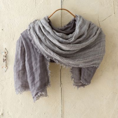 Layered Linen Scarf