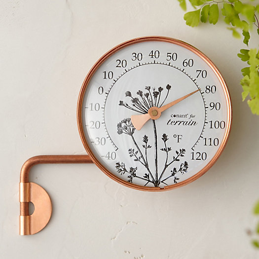 Copper Dial Thermometer, Meadow