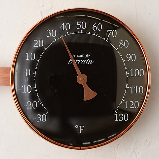 Copper Dial Thermometer, Large Display