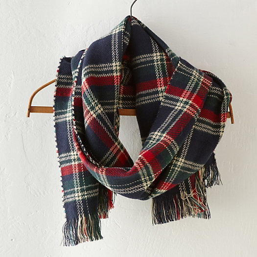 Double Faced Plaid Scarf