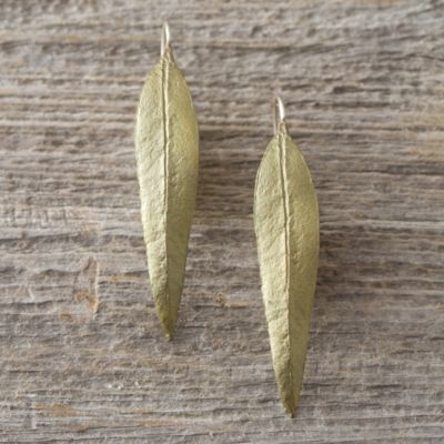 Eucalyptus Leaf Earrings