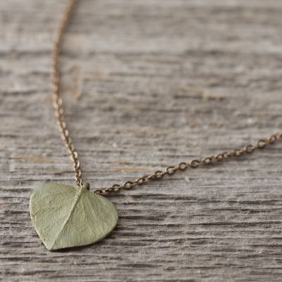 Eucalyptus Leaf Necklace, Short