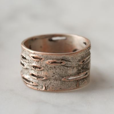 Birch Bark Ring, Wide