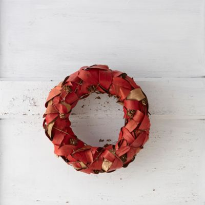 Golden Leaves Wreath