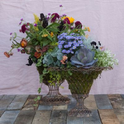 Laced Wire Oval Urn