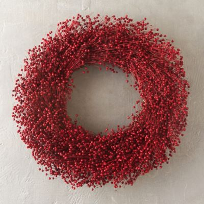 Red Flax Wreath
