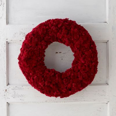 Crimson Yarrow Wreath