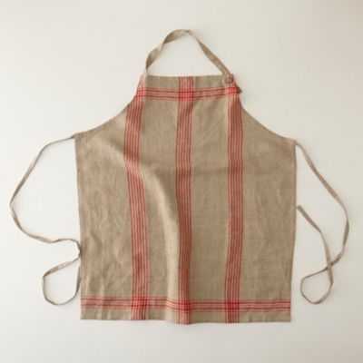 Striped Linen Apron