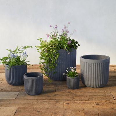 Fiber Concrete Barrel Pot