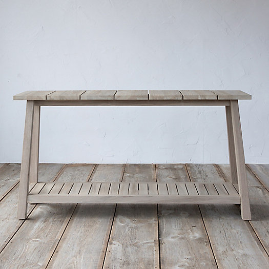 Slatted Teak Console Table | Terrain