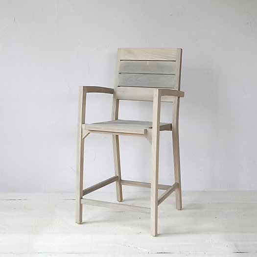 Slatted Teak Counter Stool