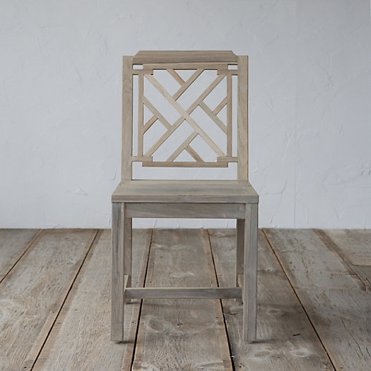Protected Teak Lattice Chair