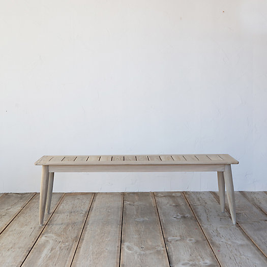 Protected Teak Dining Bench